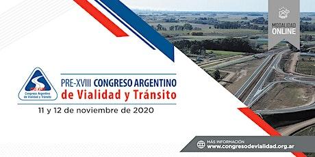 Pre-XVIII Congreso Argentino de Vialidad y Tránsito entradas
