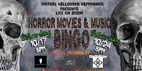 Horror Movies and Music Bingo tickets