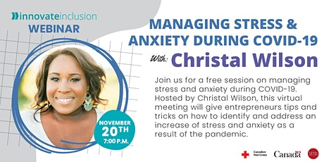 Managing Stress & Anxiety During COVID-19 with Christal Wilson tickets