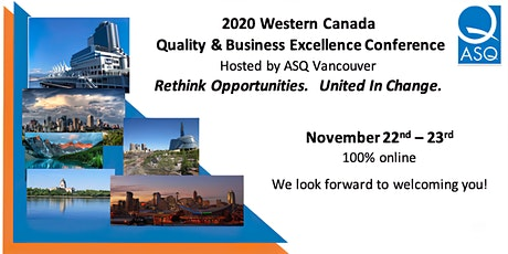 ASQ 2020 Western Canada Quality and Business Excellence Conference tickets