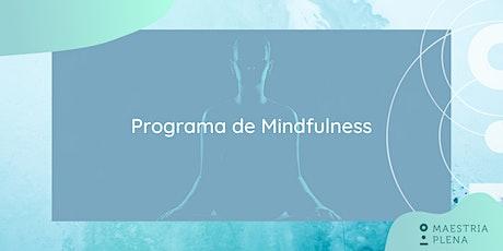 Programa de Mindfulness bilhetes