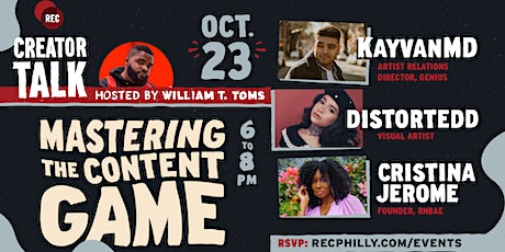 Creator Talk- Mastering The Content Game tickets