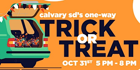 Halloween one-way Trick-or-Treat tickets