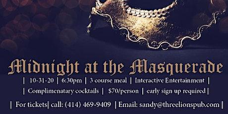 Midnight at the Masquerade; Murder Mystery Dinner tickets