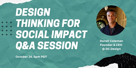 Design Thinking for Social Impact – Q&A Session tickets