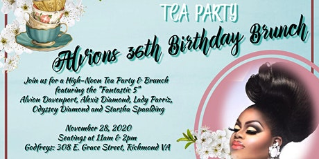 ALVIONS 36th BIRTHDAY BRUNCH AND GARDEN TEA PARTY tickets