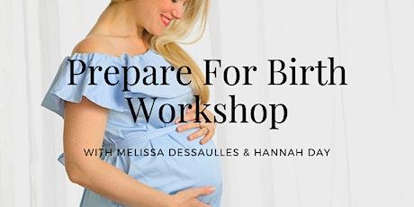 Prepare for Birth Workshop - Online tickets