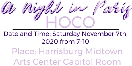 """Homecoming Dance 2020 """"A Night In Paris"""" at HMAC tickets"""