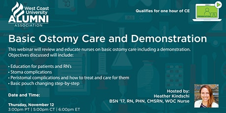 Basic Ostomy Care and Demonstration- Hosted by: Heather Kindschi, BSN '17 tickets