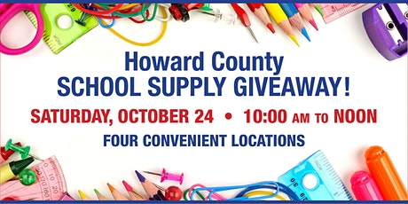 Howard County School Supply Giveaway tickets