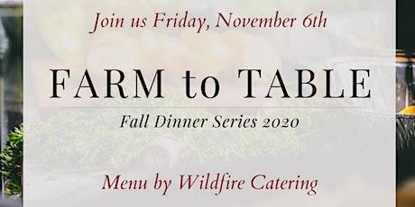 Nov 6 farm to table tickets
