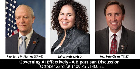 Governing AI Effectively - A Bipartisan Discussion tickets