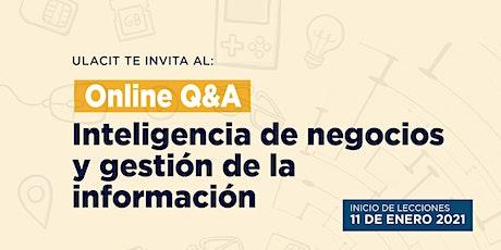 Online Q&A: Inteligencia de negocios y gestión de la información boletos