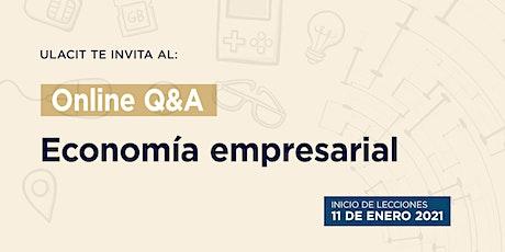 Online Q&A: Economía empresarial entradas