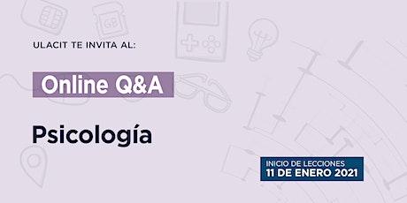 Online Q&A: Psicología biljetter