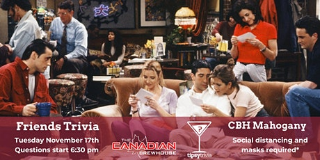 Friends Trivia - 10.17.2020 - Canadian Brewhouse Mahogany Calgary 6:30 pm tickets