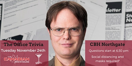 The Office Trivia Night - 10.24.2020 - CBH Northgate Calgary 6:30 pm tickets