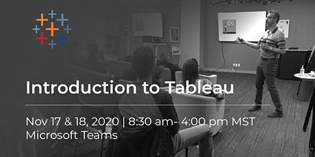 Introduction to Tableau | November | Edmonton tickets
