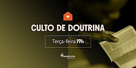 CULTO DE DOUTRINA -  20/10/2020 ingressos