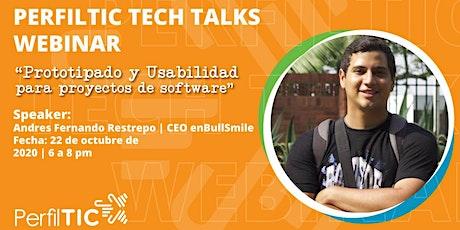 """""""Prototipado y Usabilidad para proyectos de software"""" - Andrés Restrepo entradas"""