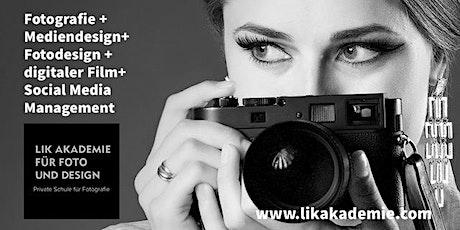 Online Infoabend Ausbildung Fotografie, Film und Mediendesign