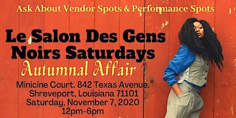 Le Salon Des Gens Noir Saturdays- Autumnal Affair tickets
