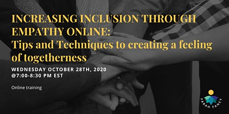 Increasing inclusion through empathy online tickets