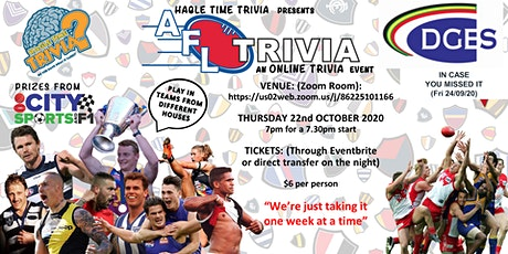 AFL Online Trivia tickets