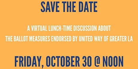 Virtual Lunch Discussion of Propositions tickets
