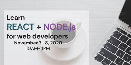 Learn React+Node.js for Web Developers - Two-day full-stack online seminar tickets