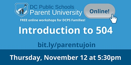 A Parent's Guide to Section 504 Supports for Students with Disabilities tickets