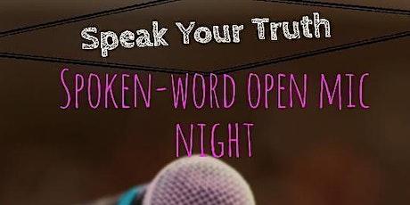 Speak Your Truth  open-mic tickets