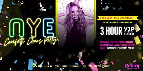 Retro's Confetti Chaos New Years Eve Party tickets