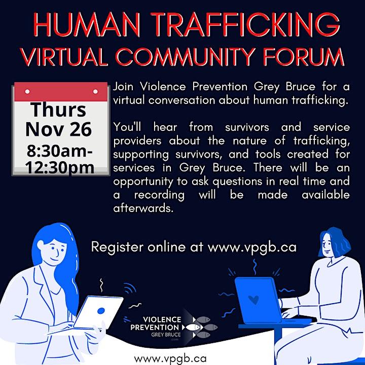 Anti-Human Trafficking Community Forum: Service Provider Session image