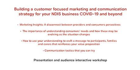 WA: NDIS Customer Focused Marketing & Communications Webinar tickets