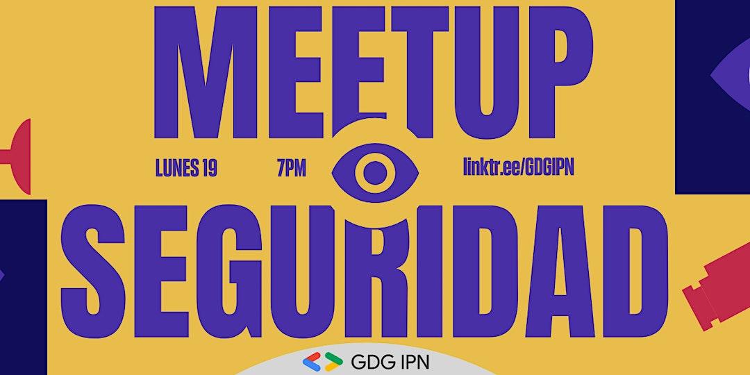 Anuncio de  meetup el 19 de octubre a las 7 p. m.