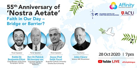 55th Anniversary of Nostra Aetate: Faith in Our Day - Bridge or Barrier? tickets