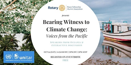 Bearing Witness to Climate Change: Voices from the Pacific tickets