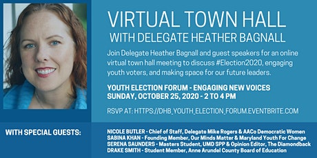 Delegate Bagnall's Virtual Town Hall - Youth Election Forum tickets