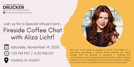 Fireside Coffee Chat with Aliza Licht tickets