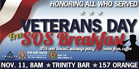 2020 Veterans Day FREE SOS Breakfast tickets