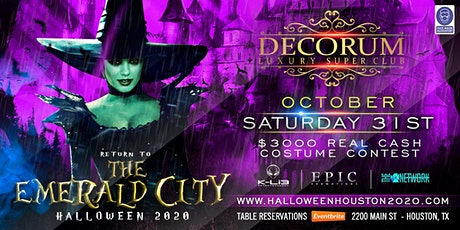 Houston Halloween Party - RETURN TO THE EMERALD CITY 2020 tickets
