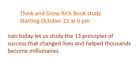 Think and Grow Rich Book Study tickets