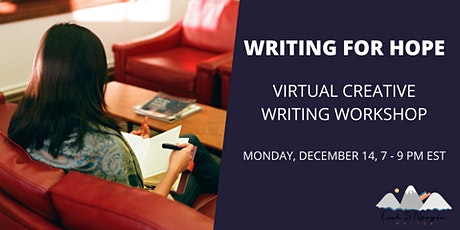 Writing for Hope: virtual creative writing workshop tickets
