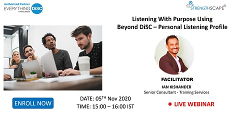 Listening with purpose using Beyond DiSC – Personal Listening Profile tickets