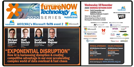 AI & Exponential Disruption | futureNOW Technology Series 2020 | Event 2 tickets