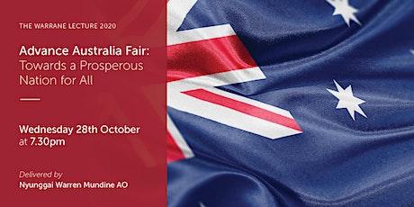 Advance Australia Fair - The Warrane Lecture 2020 tickets
