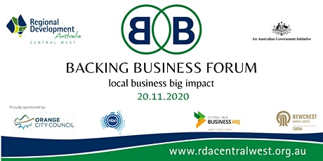 BACKING BUSINESS FORUM tickets
