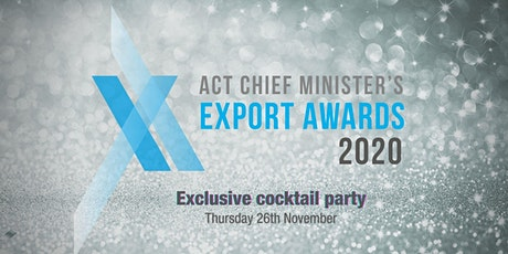 2020 Chief Minister's ACT Export Awards Cocktail Party tickets