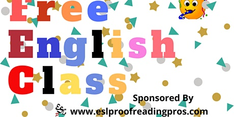 FREE English Class tickets
